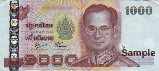 Thai baht forex card
